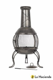 La Hacienda Chiminea Leon Mesh Steel Medium