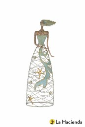 La hacienda Metal Sea Maiden Indoor/Outdoor  85x28x18cm