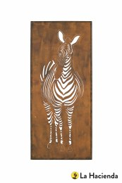 La Hacienda Wall Art Steel Oxidised Zebra Indoor/Outdoor