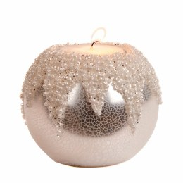 Christmas Candle Glass Beads on Crackle Ball Votive 8cm