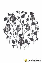 La Hacienda Wall Art Pearching Owls Steel
