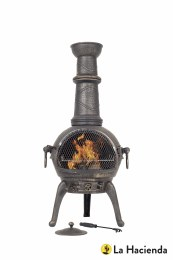 La Hacienda Chiminea Grill Sierra Large Cast Iron