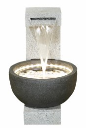 Kelkay Water Feature Solitary Pour With LED Lights