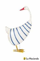 La Hacienda Steel Animal Stripy Duck 50 x 30 x 13cm