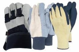 Men's Gloves Triple Pack Navy & Grey