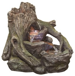 Kelkay Water Feature Woodland Twist with LEDS