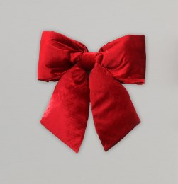 Christmas Bow Plush Red 48cm