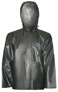 Viking Journeyman Hooded PVC Dark Green Jacket - Small