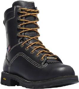 "Danner Quarry USA 8"" Black Alloy Toe Boot in Black - Size 8"