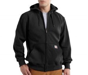 Carhartt Rain Defender Paxton Heavyweight Hooded Zip-Front Sweatshirt (Black) Medium