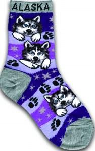 Youth Husky Face Sock 2-4