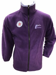 Plum Zip Fleece Jacket - Large