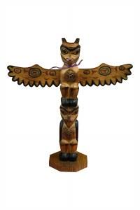 "12"" Love Birds Totem Pole"