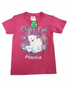 Youth Tee Chillin Out Polar Bear Pink