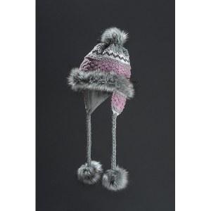 Faux Fur Hat Noora - Grey & Purple