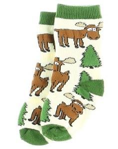 Infant Socks Moose Hug Green 6-12 Month