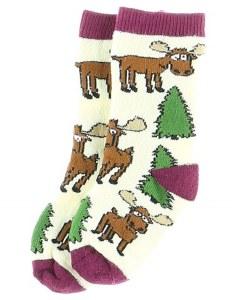 Infant Socks Moose Hug Purple 18-24 Months