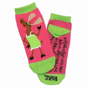 Lazy One Don't Moose With Me Slipper Sock 9-11