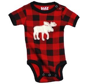 Moose Plaid Infant Creeper - 18 Month