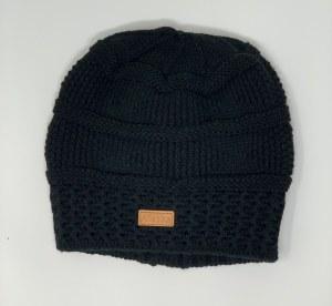Women's Black Knit Hat with Alaska Patch