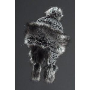 Faux Fur Hat Bayka - Grey