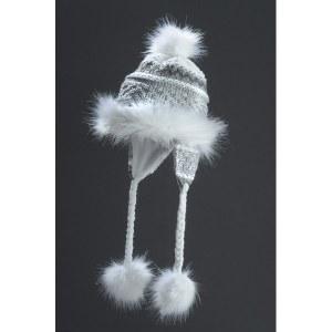Faux Fur Hat Noora - White & Grey