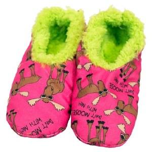 Fuzzy Feet Slippers 'Don't Moose' - Small/ Medium
