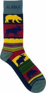 Bear/Moose Stripes Socks