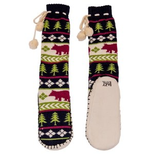 Lazy One Bear Fair Isle Mukluks - Large/XLarge