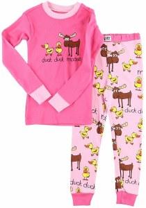 Girl's Duck Duck Moose Long Sleeve PJ's - 4T