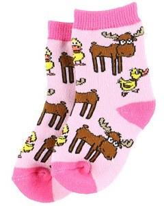 Girl's Duck Duck Moose Sock 18/24 Month