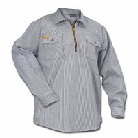 Prison Blues Hickory Zipper Front Shirt - Small