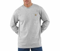 Carhartt WorkWear Long-Sleeve Pocket T-Shirt (Heather Gray) XLarge