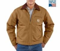 Carhartt Duck Detroit Blanket Lined Jacket (Carhartt Brown) XLarge