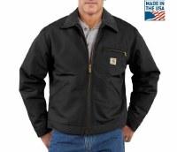Carhartt Duck Detroit Blanket Lined Jacket (Black) Medium