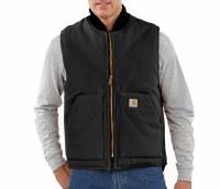 Carhartt Arctic-Quilt Lined Duck Vest (Black) Small
