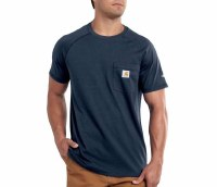 Carhartt Force Cotton Delmont Short-Sleeve T-Shirt (Navy) Large