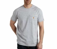 Carhartt Force Cotton Delmont Short-Sleeve T-Shirt (Heather Gray) 3XL