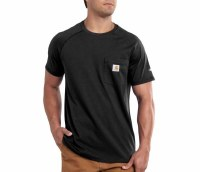 Carhartt Force Cotton Delmont Short-Sleeve T-Shirt (Black) Large