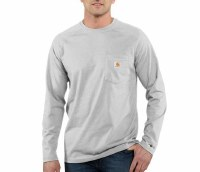 Carhartt Force Cotton Delmont Long-Sleeve T-Shirt (Heather Gray) Large