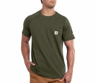 Carhartt Force Cotton Delmont Short-Sleeve T-Shirt (Moss) Large
