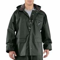 Carhartt Surrey PVC Rain Coat Green - Small