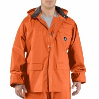 Carhartt Surrey PVC Rain Coat Orange - Medium