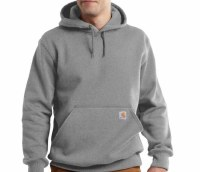 Carhartt Rain Defender Paxton Hooded Heavyweight Sweatshirt (Heather Gray) Large