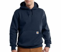 Carhartt Rain Defender Paxton Hooded Heavyweight Sweatshirt (New Navy) Large