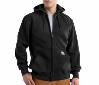 Carhartt Rain Defender Paxton Heavyweight Hooded Zip-Front Sweatshirt (Black) Medium