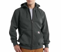 Carhartt Rain Defender Paxton Heavyweight Hooded Zip-Front Sweatshirt (Carbon Heather) Medium