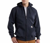 Carhartt Rain Defender Paxton Heavyweight Hooded Zip-Front Sweatshirt (New Navy) Medium