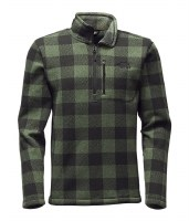 The North Face Men's Gordon Lyons 1/4 Zip Duck Green Print - Medium