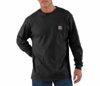 Carhartt WorkWear Long-Sleeve Pocket T-Shirt (Black) Large